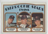Rookie Stars Twins (Bob Gebhard, Steve Brye, Hal Haydel) [GoodtoVG&…