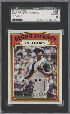 1972 Topps - [Base] #436 - Reggie Jackson (In Action) [SGC88]