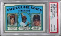 Rookie Stars Padres (Darcy Fast, Derrel Thomas, Mike Ivie) [PSA8]