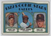 Rookie Stars Padres (Darcy Fast, Derrel Thomas, Mike Ivie) [Poor to F…