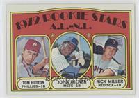 High # - Rookie Stars A.L.-N.L. (Tom Hutton, John Milner, Rick Miller)