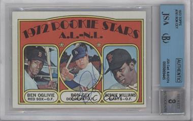1972 Topps - [Base] #761 - Rookie Stars A.L.-N.L. (Ben Oglivie, Ron Cey, Bernie Williams) [BGS/JSACertifiedAuto]