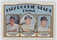 High # - Rookie Stars Twins (Vic Albury, Rick Dempsey, Jim Strickland)