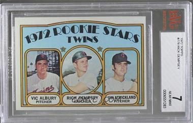 1972 Topps - [Base] #778 - Rookie Stars Twins (Vic Albury, Rick Dempsey, Jim Strickland) [BVG7]