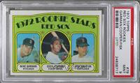 Red Sox Rookie Stars (Mike Garman, Cecil Cooper, Carlton Fisk) [PSA9]