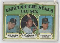 Red Sox Rookie Stars (Mike Garman, Cecil Cooper, Carlton Fisk) [Poor]