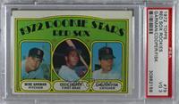 Red Sox Rookie Stars (Mike Garman, Cecil Cooper, Carlton Fisk) [PSA3…