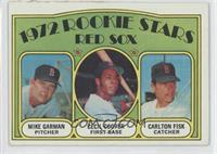 Red Sox Rookie Stars (Mike Garman, Cecil Cooper, Carlton Fisk) [NoneGood&…