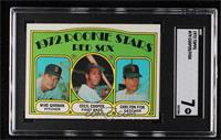 Red Sox Rookie Stars (Mike Garman, Cecil Cooper, Carlton Fisk) [SGC 7 …