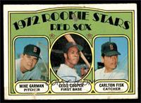 Red Sox Rookie Stars (Mike Garman, Cecil Cooper, Carlton Fisk) [GOOD]
