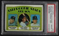 Red Sox Rookie Stars (Mike Garman, Cecil Cooper, Carlton Fisk) [PSA 8 …