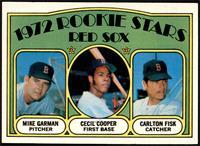 Red Sox Rookie Stars (Mike Garman, Cecil Cooper, Carlton Fisk) [NMMT]