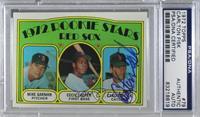 Red Sox Rookie Stars (Mike Garman, Cecil Cooper, Carlton Fisk) [PSA/DNACe…