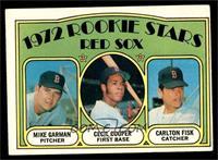 Red Sox Rookie Stars (Mike Garman, Cecil Cooper, Carlton Fisk) [VGEX]