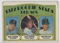 Red Sox Rookie Stars (Mike Garman, Cecil Cooper, Carlton Fisk) [Poor to&nb…
