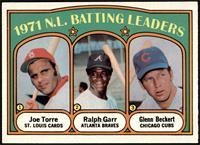 1971 N.L. Batting Leaders (Joe Torre, Ralph Garr, Glenn Beckert) [EXMT]