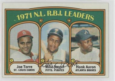 1972 Topps - [Base] #87 - 1971 N.L. R.B.I. Leaders (Joe Torre, Willie Stargell, Hank Aaron)