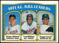 A.L. R.B.I. Leaders (Harmon Killebrew, Frank Robinson, Reggie Smith) [EX]
