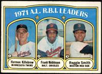 A.L. R.B.I. Leaders (Harmon Killebrew, Frank Robinson, Reggie Smith) [GD+]
