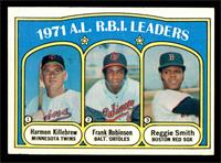 A.L. R.B.I. Leaders (Harmon Killebrew, Frank Robinson, Reggie Smith) [VG]