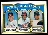 A.L. R.B.I. Leaders (Harmon Killebrew, Frank Robinson, Reggie Smith) [EXM…