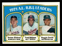 A.L. R.B.I. Leaders (Harmon Killebrew, Frank Robinson, Reggie Smith) [EX M…
