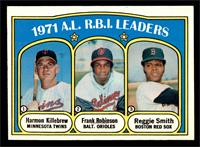A.L. R.B.I. Leaders (Harmon Killebrew, Frank Robinson, Reggie Smith) [EX]