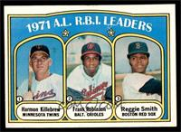 A.L. R.B.I. Leaders (Harmon Killebrew, Frank Robinson, Reggie Smith) [NM]