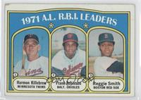 A.L. R.B.I. Leaders (Harmon Killebrew, Frank Robinson, Reggie Smith) [Poor …
