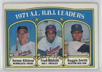 A.L. R.B.I. Leaders (Harmon Killebrew, Frank Robinson, Reggie Smith)