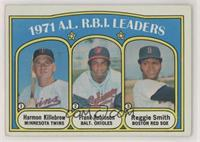 A.L. R.B.I. Leaders (Harmon Killebrew, Frank Robinson, Reggie Smith) [Poor]