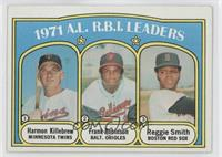 A.L. R.B.I. Leaders (Harmon Killebrew, Frank Robinson, Reggie Smith) [Good …