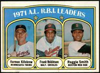 A.L. R.B.I. Leaders (Harmon Killebrew, Frank Robinson, Reggie Smith) [VGE…