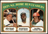 1971 N.L. Home Run Leaders (Willie Stargell, Hank Aaron, Lee May) [EX]