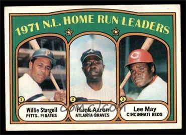 1972 Topps - [Base] #89 - 1971 N.L. Home Run Leaders (Willie Stargell, Hank Aaron, Lee May) [VG]