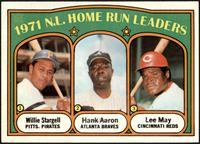 1971 N.L. Home Run Leaders (Willie Stargell, Hank Aaron, Lee May) [NMMT]