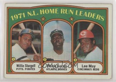 1972 Topps - [Base] #89 - 1971 N.L. Home Run Leaders (Willie Stargell, Hank Aaron, Lee May) [Good to VG‑EX]