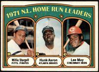 1971 N.L. Home Run Leaders (Willie Stargell, Hank Aaron, Lee May) [VGEX]
