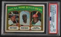 1971 N.L. Home Run Leaders (Willie Stargell, Hank Aaron, Lee May) [PSA8&n…