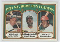 1971 N.L. Home Run Leaders (Willie Stargell, Hank Aaron, Lee May) [Noted]