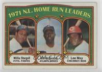 1971 N.L. Home Run Leaders (Willie Stargell, Hank Aaron, Lee May) [Poorto…