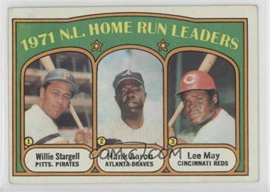 1972 Topps - [Base] #89 - 1971 N.L. Home Run Leaders (Willie Stargell, Hank Aaron, Lee May) [GoodtoVG‑EX]