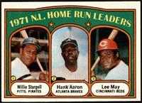1971 N.L. Home Run Leaders (Willie Stargell, Hank Aaron, Lee May) [EXMT]