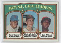 N.L. E.R.A. Leaders (Tom Seaver, Dave Roberts, Don Wilson)