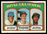N.L. E.R.A. Leaders (Tom Seaver, Dave Roberts, Don Wilson) [NMMT]