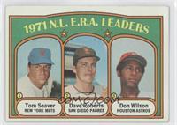 N.L. E.R.A. Leaders (Tom Seaver, Dave Roberts, Don Wilson) [GoodtoV…