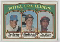 N.L. E.R.A. Leaders (Tom Seaver, Dave Roberts, Don Wilson)