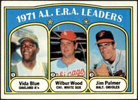 A.L. E.R.A. Leaders (Vida Blue, Wilbur Wood, Jim Palmer) [EX]
