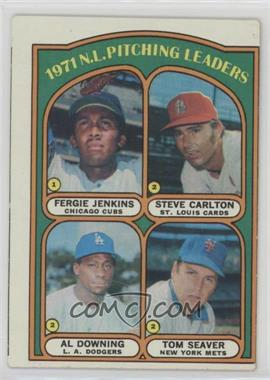 1972 Topps - [Base] #93 - 1971 N.L. Pitching Leaders (Fergie Jenkins, Steve Carlton, Al Downing, Tom Seaver) [GoodtoVG‑EX]
