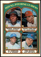 1971 N.L. Pitching Leaders (Fergie Jenkins, Steve Carlton, Al Downing, Tom Seav…